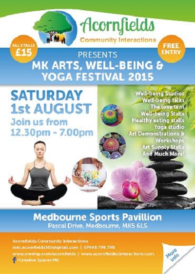 Art, Wellbeing and Yoga Festival 400 pixels wide
