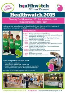 Healthwatch 2015 poster