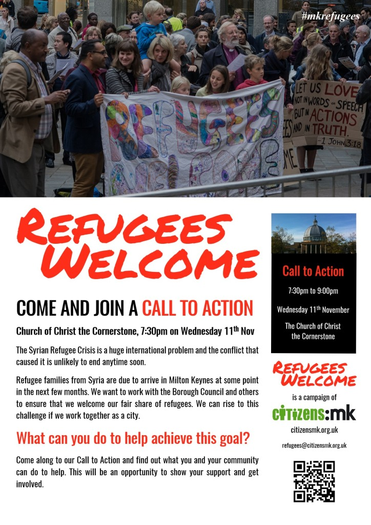 Refugees Welcome campaign poster