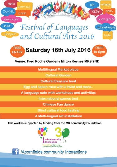 FESTIVAL OF LANGUAGES 2016 FLYER