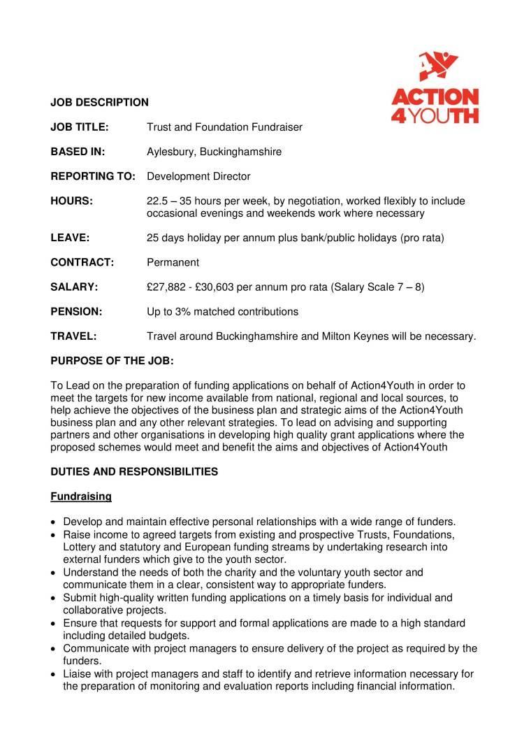 Job Description -Trust and Foundation Fundraiser-1